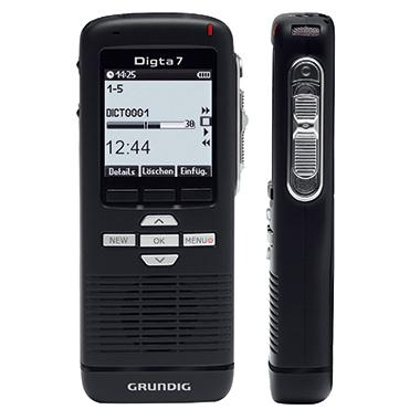 Grundig Diktiergerät Digta 7 5,2 x 13 x 2,2 cm (B x H x T) 600h inkl. Etui, Handschlaufe, USB-Kabel