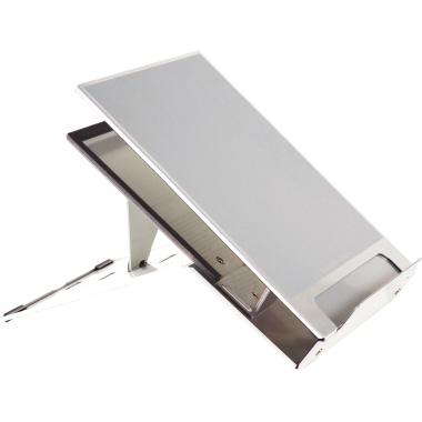 BakkerElkhuizen Notebookständer Ergo-Q 260 nicht höhenverstellbar inkl. Dokumentenhalter Aluminium s