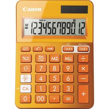 Canon Taschenrechner LS-123K 1 x 12-stellig orange metallic Solar-Energie, Batterie
