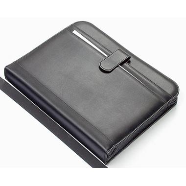 Alassio® Schreibmappe RICCIONE 28,5 x 34,5 x 4,5 cm (B x H x T) Kunstleder schwarz