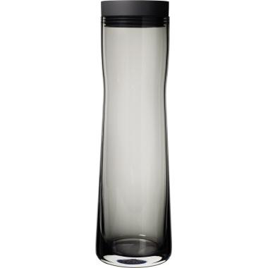 blomus Karaffe SPLASH 1l Silikon/Glas/Edelstahl, poliert schwarz