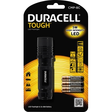 DURACELL Taschenlampe TOUGH™ 143m 300lm LED 2,5 h AAA/Micro inkl. Handschlaufe Aluminium