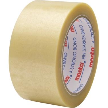 Monta Packband 220 50 mm x 66 m (B x L) Hart-PVC-Folie transparent 6 St./Pack.