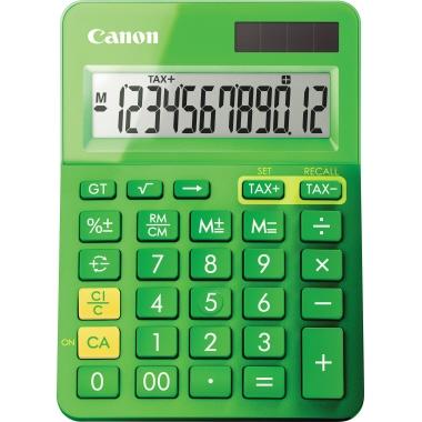 Canon Taschenrechner LS-123K 1 x 12-stellig grün metallic Solar-Energie, Batterie