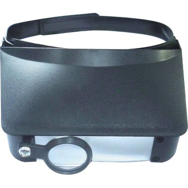 RoNa Lupenbrille 1,8-fach, 2,3-fach, 3,7-fach, 4,8-fach schwarz