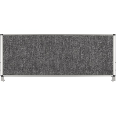 Bi-office Lärmschutzwand Evolution 900 x 350 mm (B x H) Polyethylenschaum grau