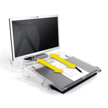 BakkerElkhuizen Konzepthalter FlexDesk 640 höhenverstellbar ohne Neigungsverstellung ohne verstellba