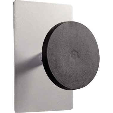 ALBA Garderobenhaken 10 x 15 cm (B x H x T) 5kg Kunststoff/Metall, pulverbeschichtet schwarz/silber