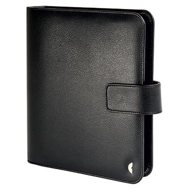 Chronoplan Timer Standard Einsteiger gefüllt DIN A5 Tagesanzeiger, Formularpaket Kunstleder schwarz