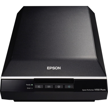 Epson Flachbettscanner Perfection V550 Photo DIN A4 6 Seiten/Min. 6.400 x 9.600 dpi inkl. USB-Kabel,