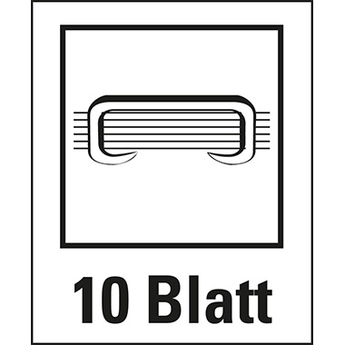 Leitz Elektroheftgerät NeXXt fest 10 Bl. (80 g/m²) e1 Metall/Kunststoff perlweiß