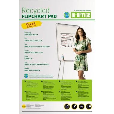 Bi-office Flipchartblock Earth-It 58,5 x 81 cm (B x H) 55g/m² 50 Bl./Block 5 Block/Pack.