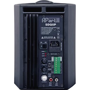 apart Lautsprecher SDQ5P 18 x 25,3 x 16,2 cm (B x H x T) Stereo Netzbetrieb schwarz