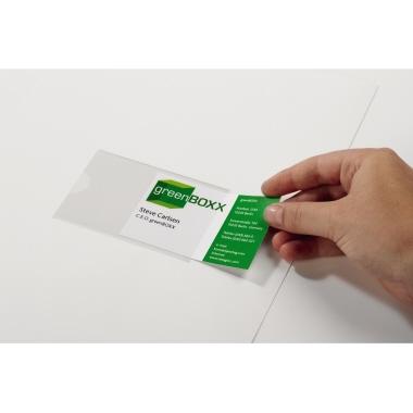 DURABLE Selbstklebetasche POCKETFIX® 9,3 x 6,2 cm (B x H) Weichfolie transparent 100 St./Pack.
