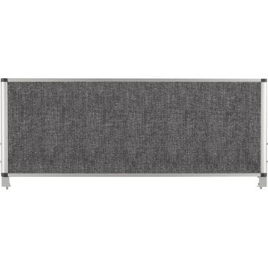 Bi-office Lärmschutzwand Evolution 1.200 x 450 mm (B x H) Polyethylenschaum grau