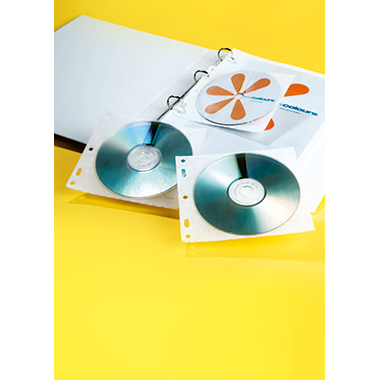 DURABLE CD/DVD Hülle COVER FILE 17 x 16,5 cm (B x H) Kunststoff transparent 10 St./Pack.