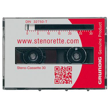 Grundig Diktierkassette Steno-Cassette 30 Sh 10, -24, St 3210. -3211, -3220, -3221, -3230 30min 5 St