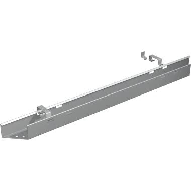 Geramöbel Kabelkanal 600 x 75 x 140 mm (B x H x T) Metall silber