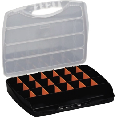 ALUTEC Sortimentskasten Classic 380 380 x 60 x 300 mm (B x H x T) 23 Fächer Kunststoff schwarz