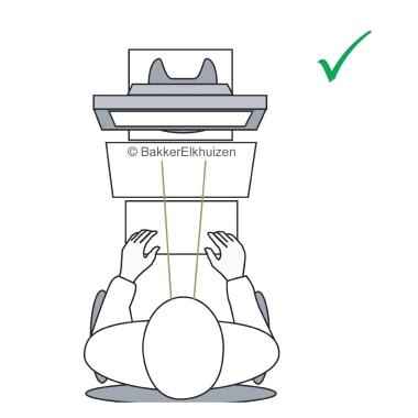 BakkerElkhuizen Konzepthalter Q-doc 515 DIN A4 nicht höhenverstellbar mit Neigungsverstellung ohne v
