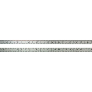 BMI Lineal 15cm Edelstahl silber