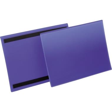 DURABLE Etikettenhülle 31,1 x 22,5 cm (B x H) Polypropylen blau 50 St./Pack.