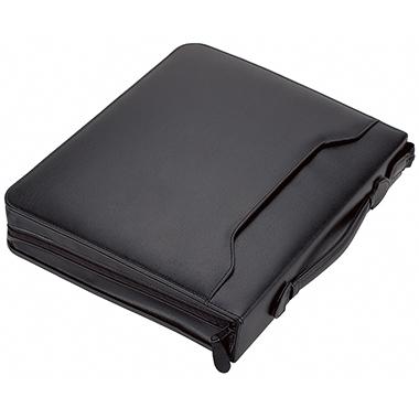 Alassio® Schreibmappe BERGAMO 37 x 31 x 6,5 cm (B x H x T) Lederimitat schwarz