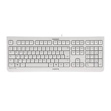 CHERRY Tastatur KC 1000 USB weiß/grau