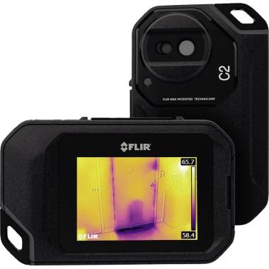 FLIR Wärmebildkamera 80 x 125 x 24 mm (B x H x T) Touchscreen +/- 1% USB inkl. Trageband, Netzadapte