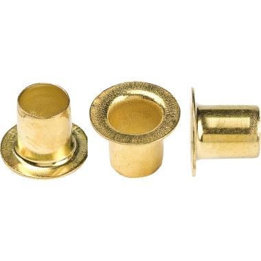 hang Ösen 270 Durchmesser: 5mm Länge: 6,9mm Stahl, vermessingt 5.000 St./Pack.
