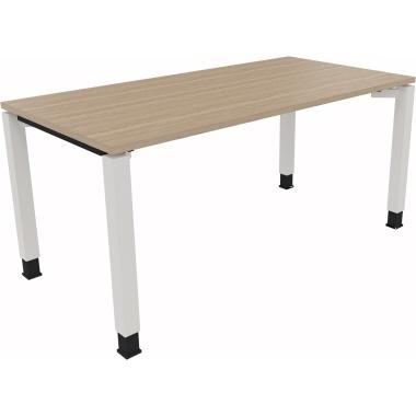 Schreibtisch all in one 1.600 x 680-820 x 800 mm (B x H x T) Holz eiche natur