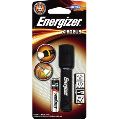 Energizer® Taschenlampe X-Focus 32m 30lm LED 2,5 h AAA/Micro Kunststoff