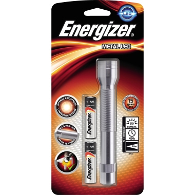 Energizer® Taschenlampe Metal 33m 60lm LED 41 h AA/Mignon Metall