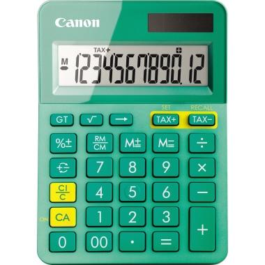 Canon Taschenrechner LS-123K 1 x 12-stellig türkis metallic Solar-Energie, Batterie