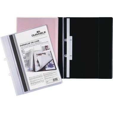 DURABLE Angebotshefter DURAPLUS® DE LUXE DIN A4, Überbreite PVC schwarz