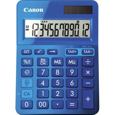 Canon Taschenrechner LS-123K 1 x 12-stellig blau metallic Solar-Energie, Batterie