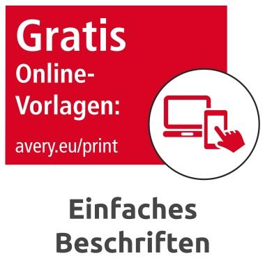 Avery Zweckform Magnetschild 78 x 28 mm (B x H) Metall weiß 90 St./Pack.