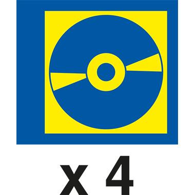 DURABLE CD/DVD Hülle COVER M 21,3 x 29,7 cm (B x H) Polypropylen transparent 5 St./Pack.