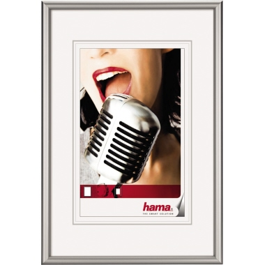 Hama Bilderrahmen Chicago 60 x 80 cm (B x H) 40 x 60 cm (B x H) Reflexglas Aluminium, eloxiert silbe