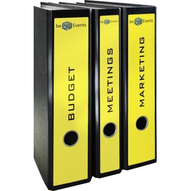 Avery Zweckform Ordnerrückenetikett ultragrip breit/lang 61 x 297 mm (B x H) mit Griffloch gelb 60 E