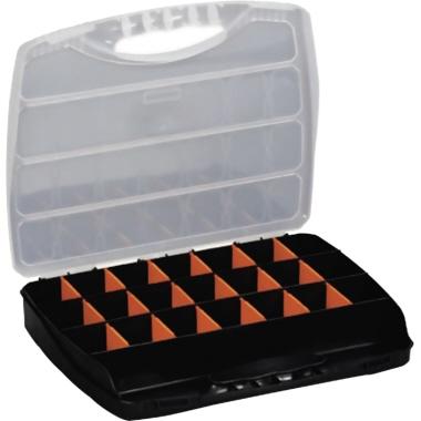 ALUTEC Sortimentskasten Classic 320 320 x 50 x 265 mm (B x H x T) 23 Fächer Kunststoff schwarz