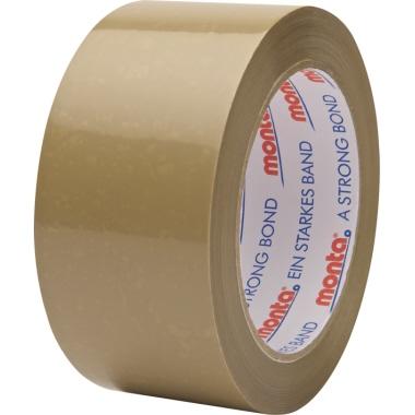 Monta Packband 124 50 mm x 66 m (B x L) Hart-PVC-Folie braun 6 St./Pack.