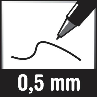 Pelikan Tintenroller Inky 0,5mm Schreibfarbe: rot Rundspitze nicht dokumentenecht
