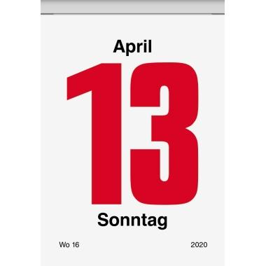 BRUNNEN Abreißkalender 6,5 x 9,8 cm (B x H) 2020 1 Tag/1 Seite schwarz/rot