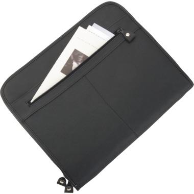 Alassio® Schreibmappe MILANO 36 x 29 x 5 cm (B x H x T) Lederimitat schwarz