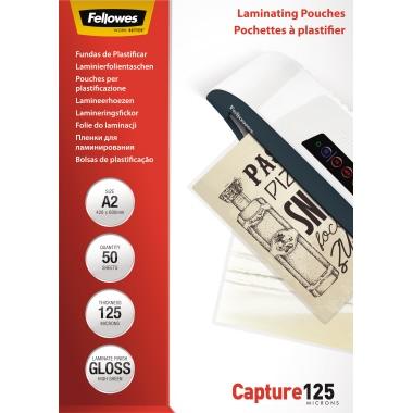 Fellowes® Laminierfolie Capture 125 428 x 594 mm (B x H) DIN A2 125µm glänzend 50 St./Pack.