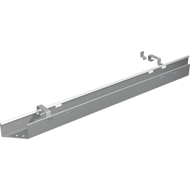 Geramöbel Kabelkanal 1.000 x 75 x 140 mm (B x H x T) Metall silber