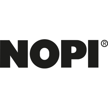 NOPI® Packbandabroller Metall/Kunststoff schwarz/gelb
