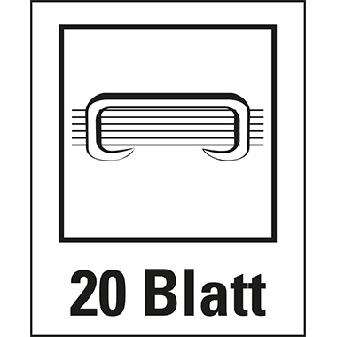 Leitz Elektroheftgerät NeXXt fest 20 Bl. (80 g/m²) e2 Metall/Kunststoff schwarz