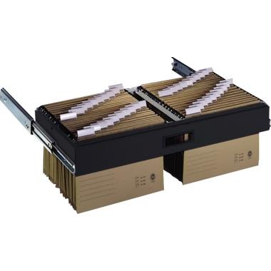 C+P Hängerahmen Büroschrank 837 x 121 x 355 mm (B x H x T) 2-bahnig schwarzgrau